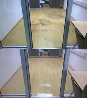 LVT põrandapesu ja vahatamine