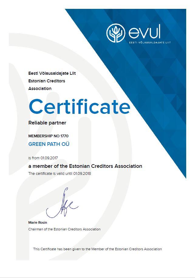 GREEN-PATH-OÜ-сертификат-надёжный-партнёр-_-EVUL