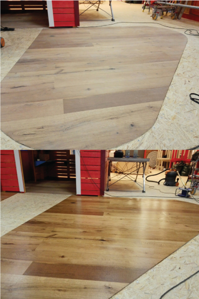 Põrandapesu ja parkettpõranda õlitamine.